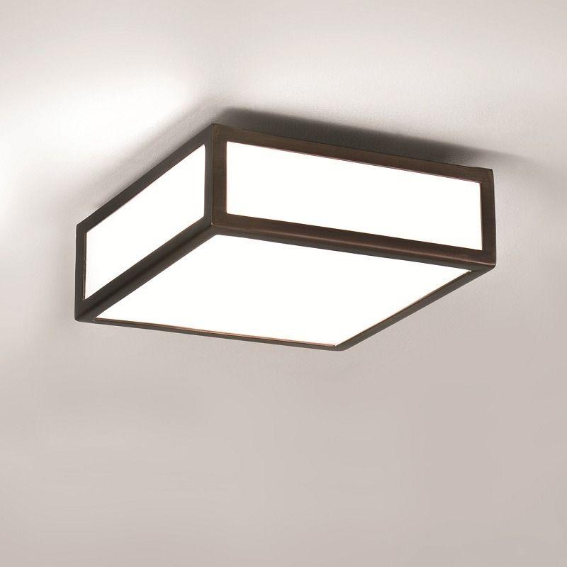Illumina - Astro Badezimmer Deckenleuchte 20 x 20 cm, Bronze Mashiko - deckenlampen für badezimmer