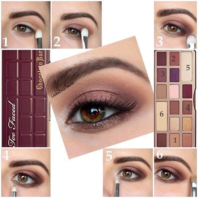 Pictorial by @lindasbeautyworld :). Too Faced Chocolate Bar Palette.