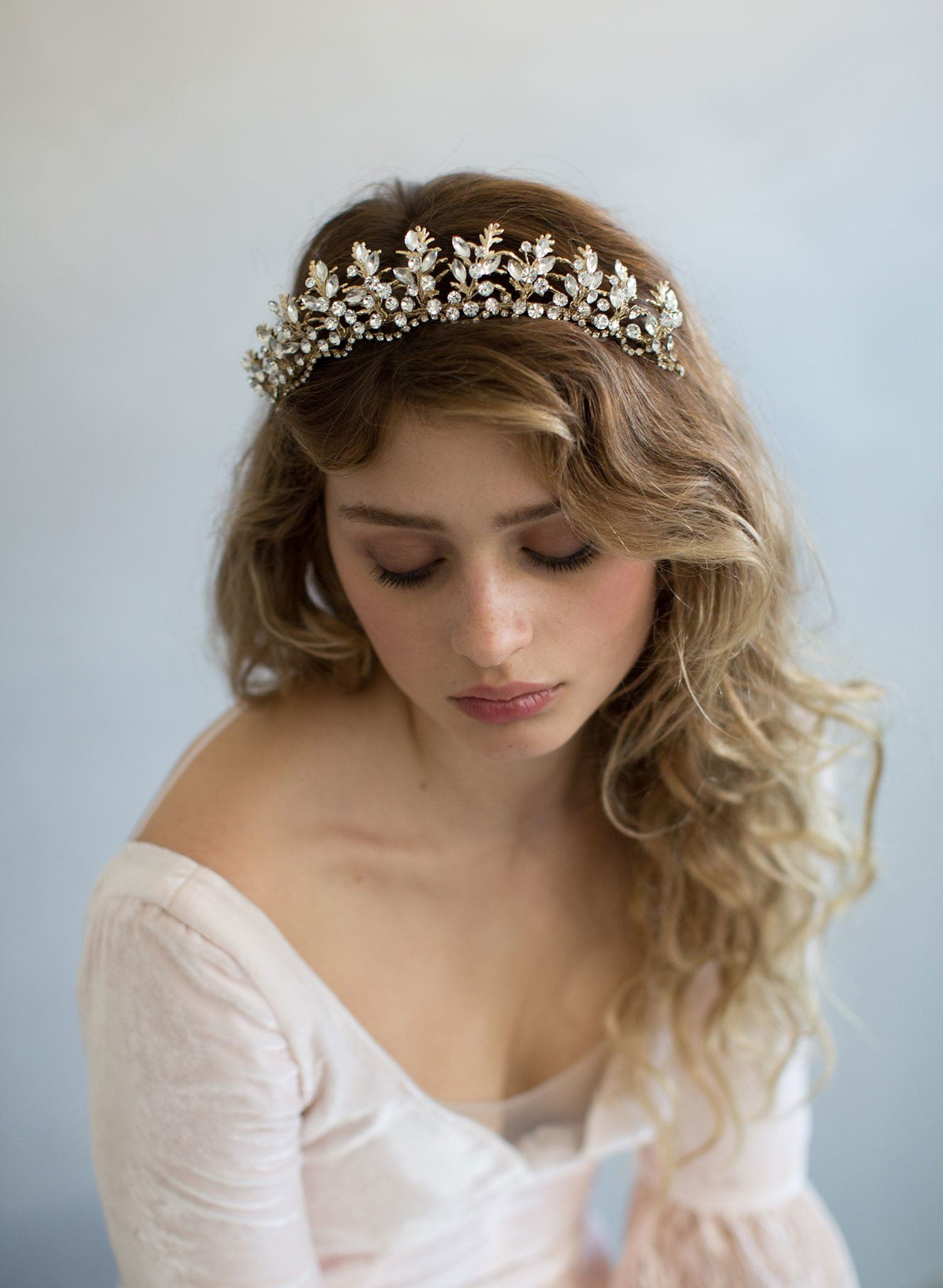 Bridal & Wedding Party Jewelry Diamante Crystal Faux Pearl Wedding Tiara Headband Crown Wreaths Elegant In Style