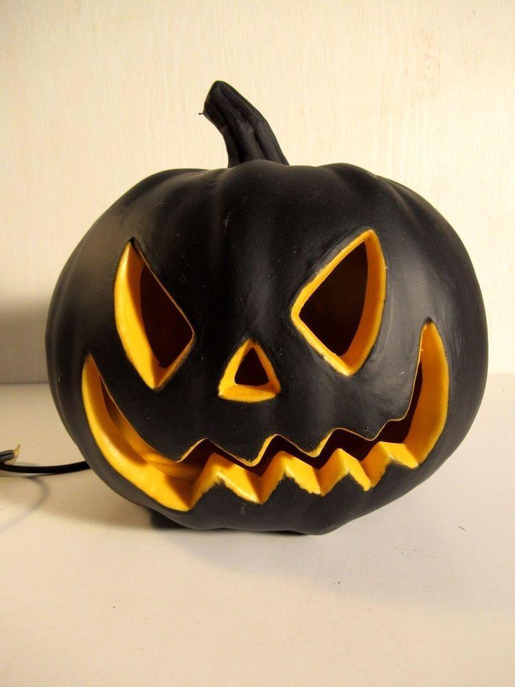 Black Orange Blow Mold Electric Light Up Halloween Jack O Lantern Pumpkin Halloween Jack O Lanterns Up Halloween Halloween Jack