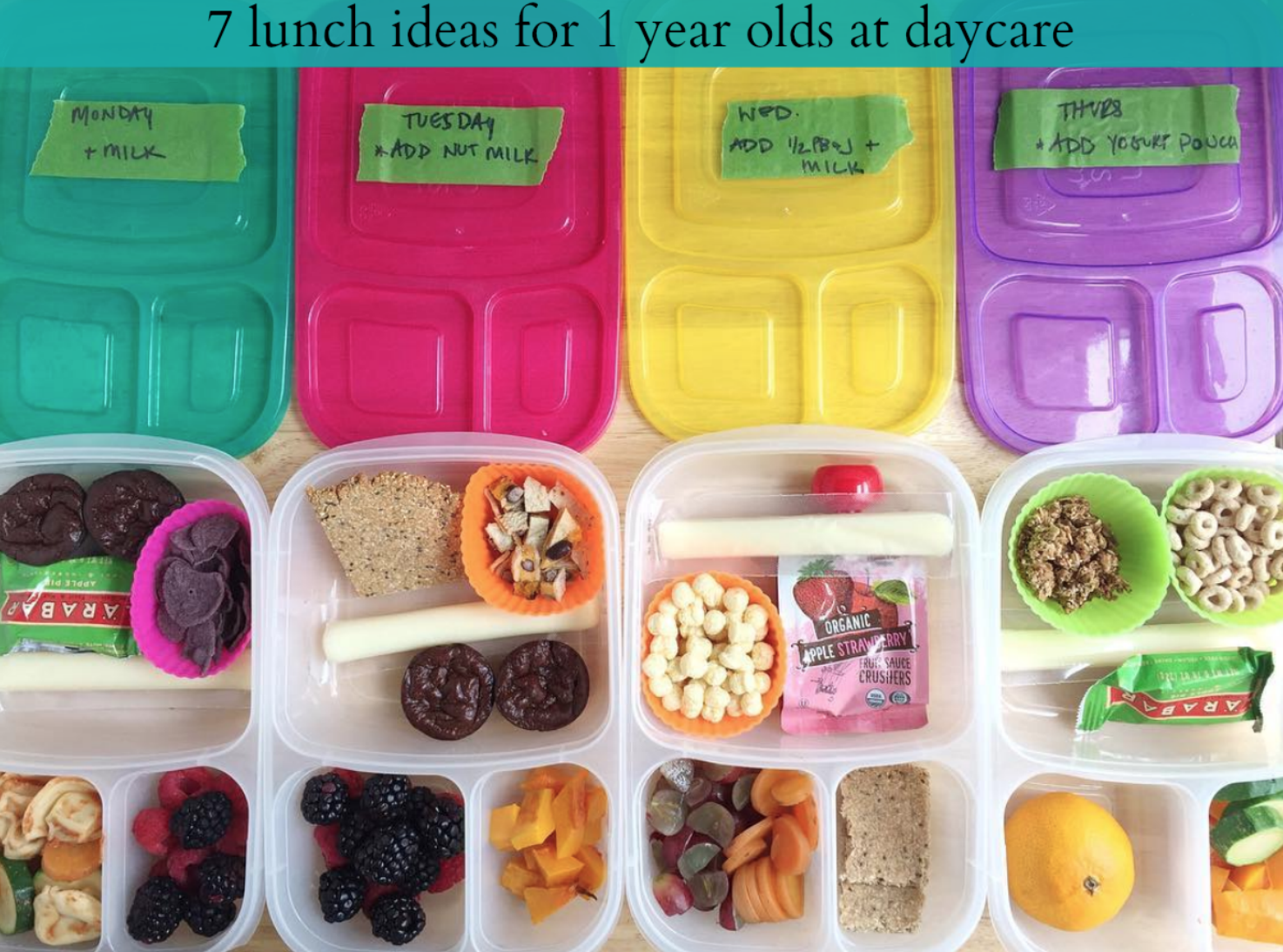 7 lunch ideas for 1 year olds at daycare