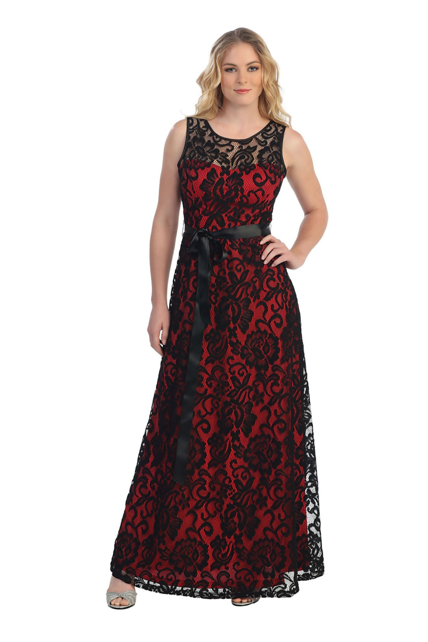 Bohemian lace long plus size formal party dress with