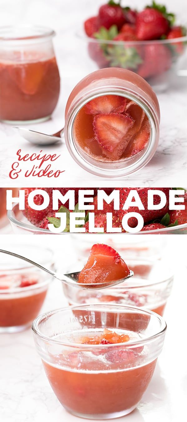 Easy Homemade Jello Style Gelatin With Just Two Ingredients Homemade Jello Gelatin Recipes Homemade Recipes