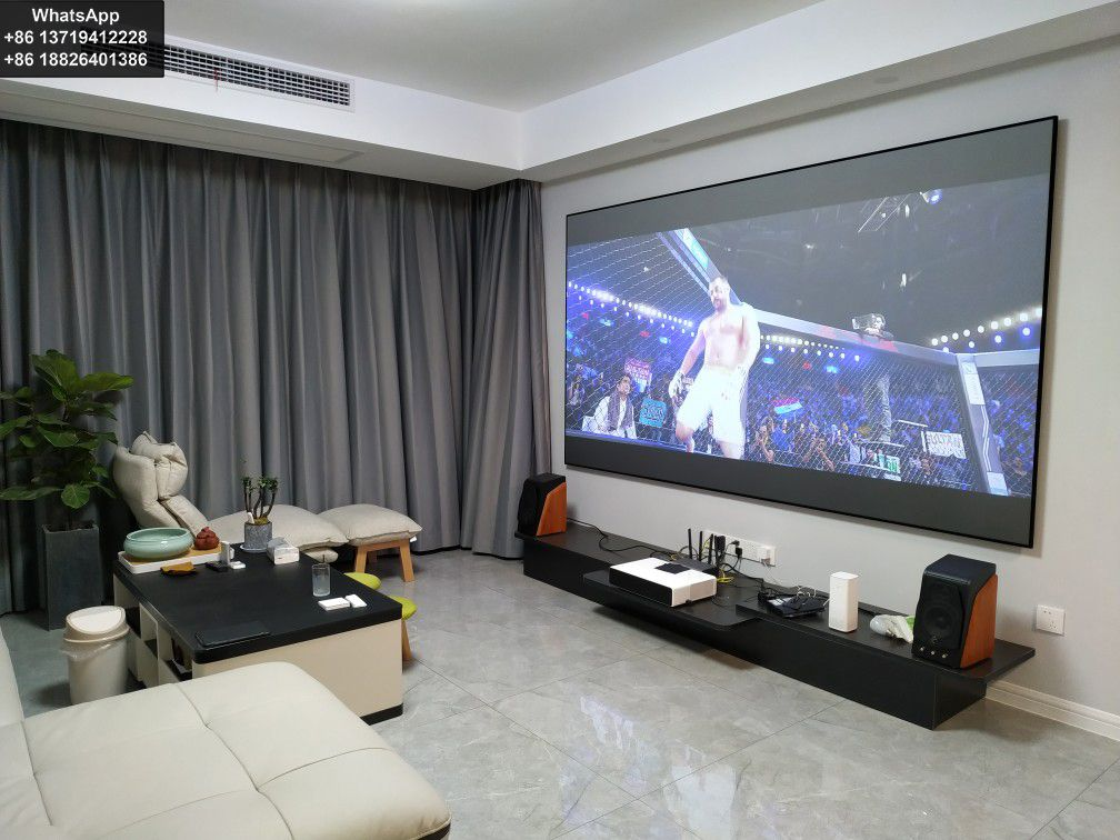 Ust Projector Screen Media Room Design Home Theater Setup Home Theater Rooms