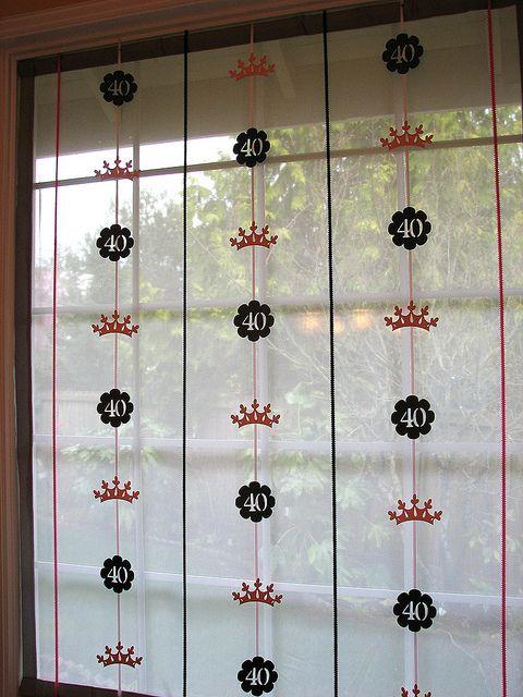 Cricut decor 40 birthday cricut and birthdays for Vinyl window designs ltd complaints