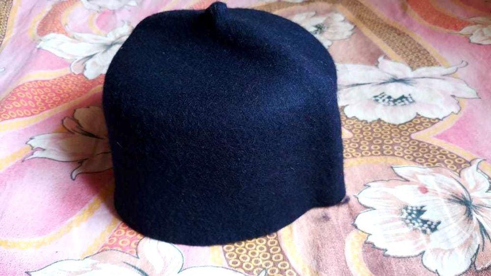 457fc98f0 Dark Blue Wool Felt Fez African Style Cap Czech Kufi Hat Koofi Topi ...