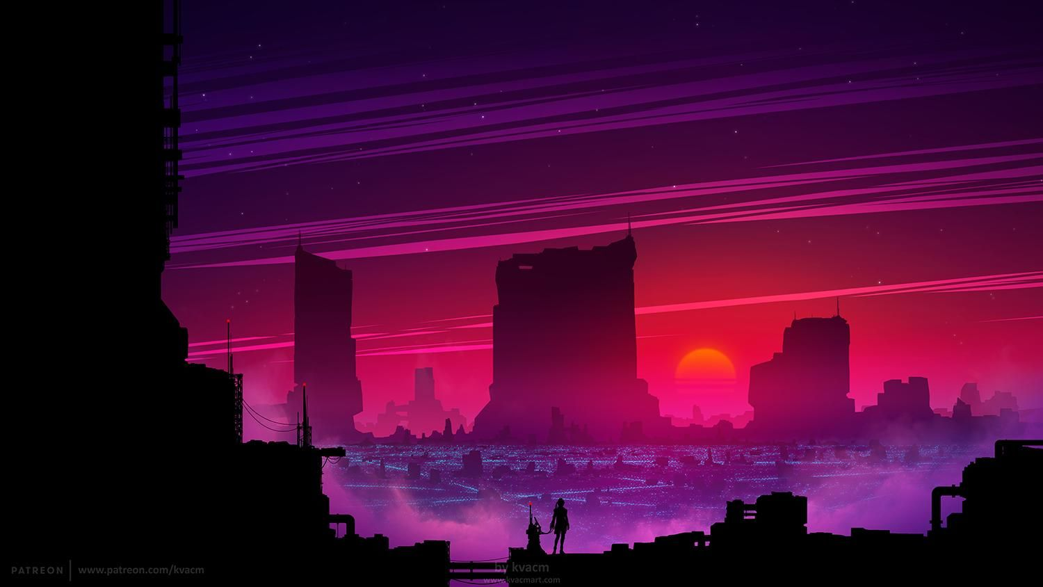 Reddit The Front Page Of The Internet Sunset City Futuristic City Future Wallpaper