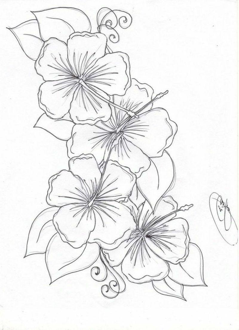 Blumenranken tattoo 20 schne vorlagen fr diverse krperstellen blumenranken tattoo 20 schne vorlagen fr diverse krperstellen hibiscus flower drawingflower izmirmasajfo Choice Image