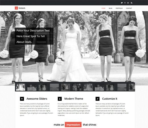 Intent Free #Responsive #HTML5 #CSS3 #Mobileweb Template