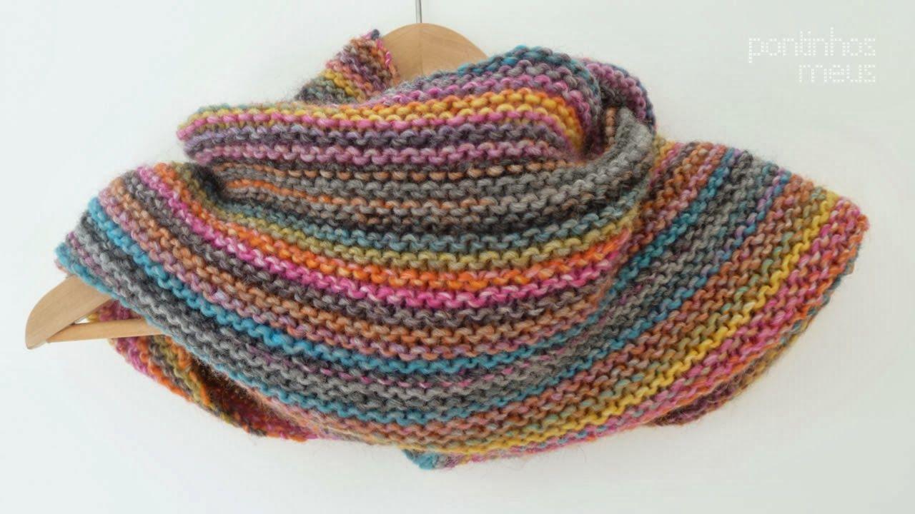 pontinhos meus: rainbow shawl