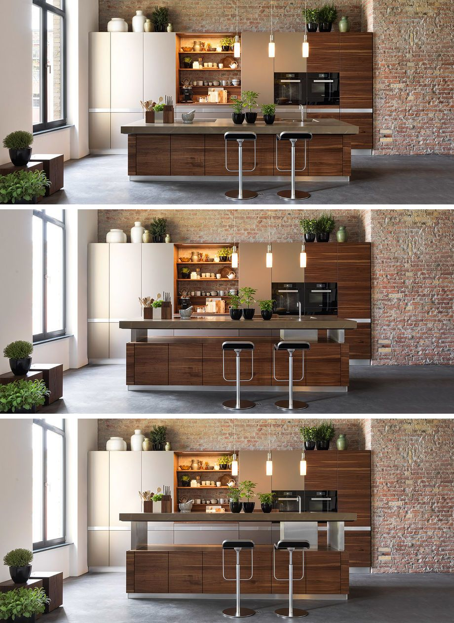k7 Kochinsel mit höhenverstellbarer Arbeitsplatte | Küche ...