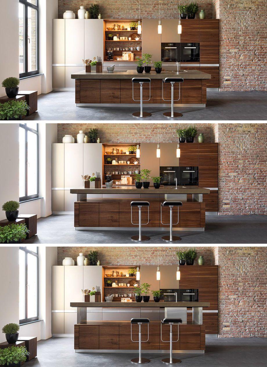 K7 Kochinsel Mit Hohenverstellbarer Arbeitsplatte Modern Keukenontwerp Kookeilanden Keuken Ontwerpen