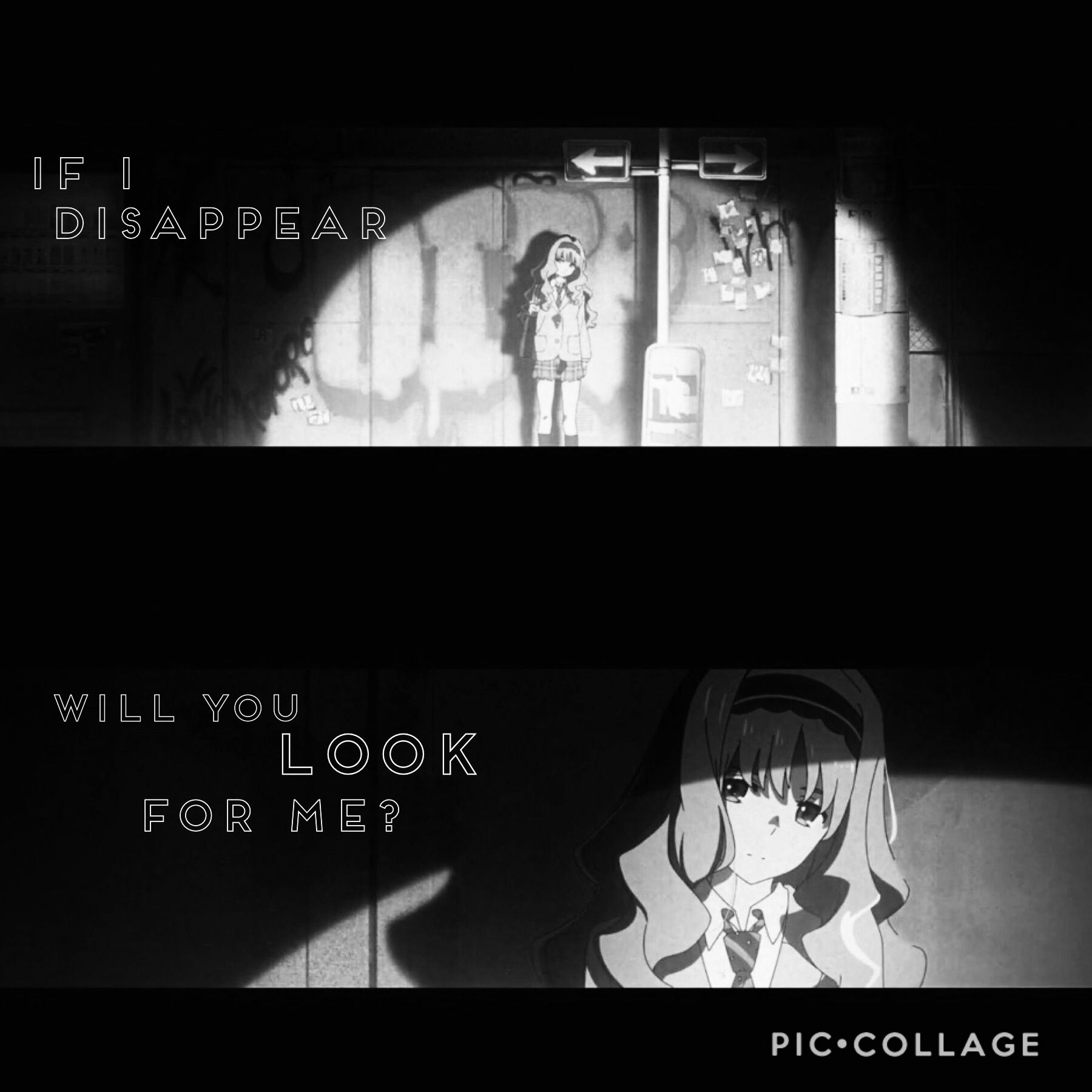 If I Disappear Will You Look For Me Anime Qoutes Anime Sketch