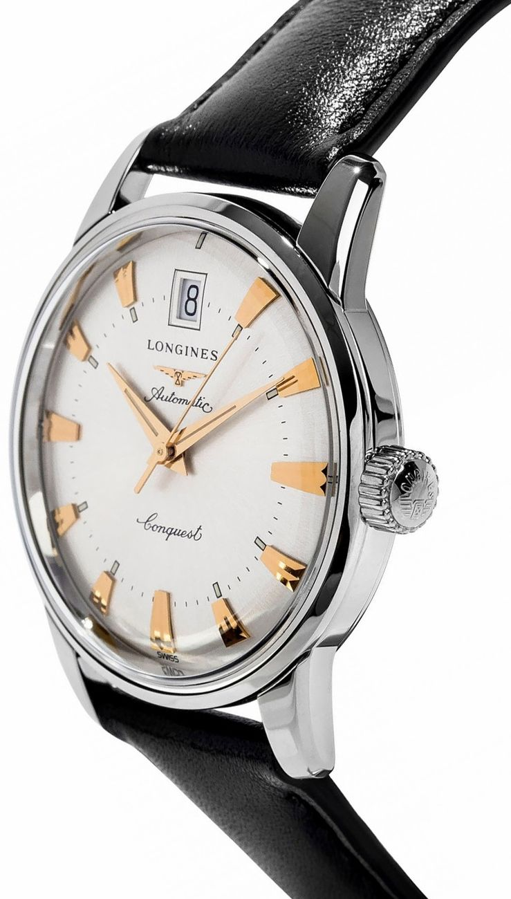 L1 611 4 75 2 Longines Heritage Collection Mens Automatic Watch Automatic Watches For Men Longines Watch Men Vintage Watches