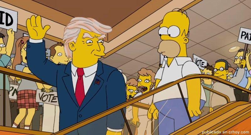 Desde el 2000 Los Simpson sabían que Donald Trump sería Presidente