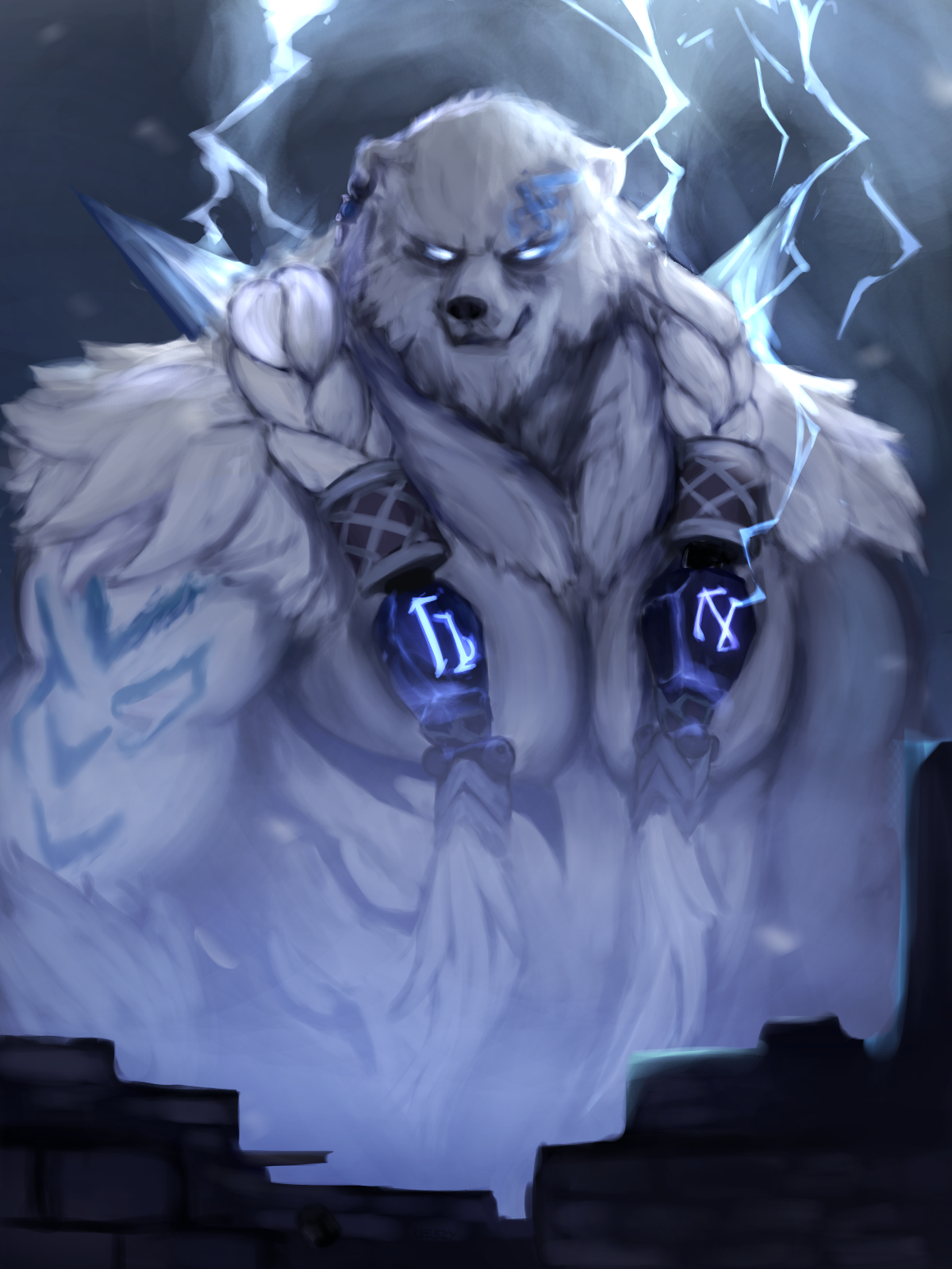 Fanart Volibear The Relentless Storm By Che3zy On Deviantart In 2020 Fantasy Creatures Art Champions League Of Legends League Of Legends Characters