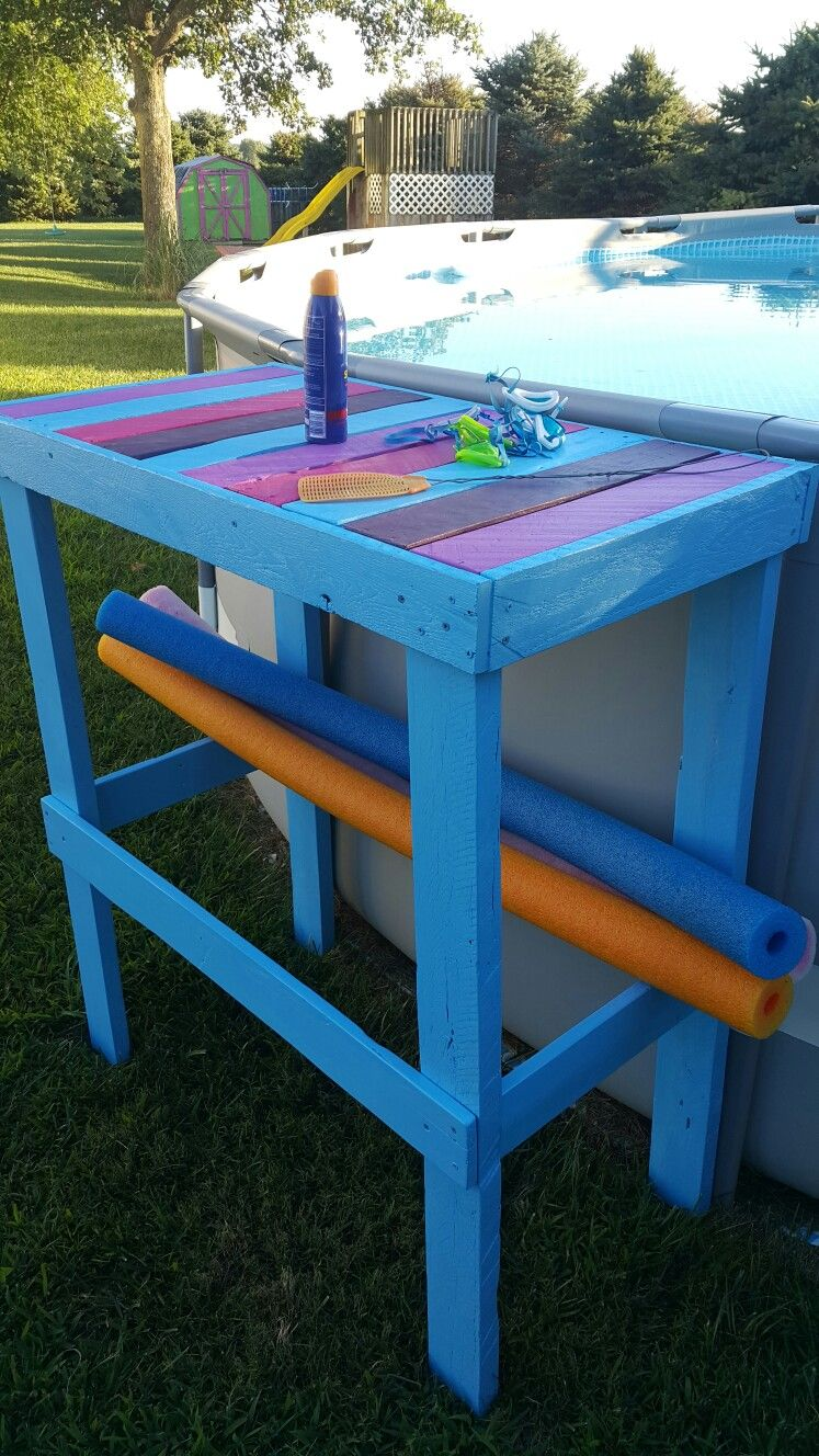 Poolside table out of pallet wood Diy pool table