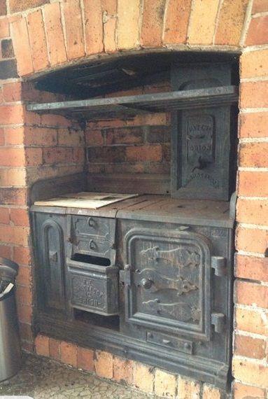Antique Cast Coal Stove Iron Burning