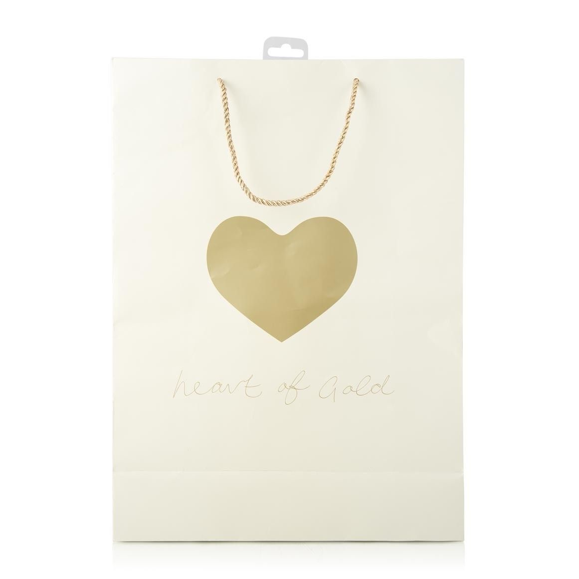 "pop your pressies in this neat ""heart of gold"" gift bag"