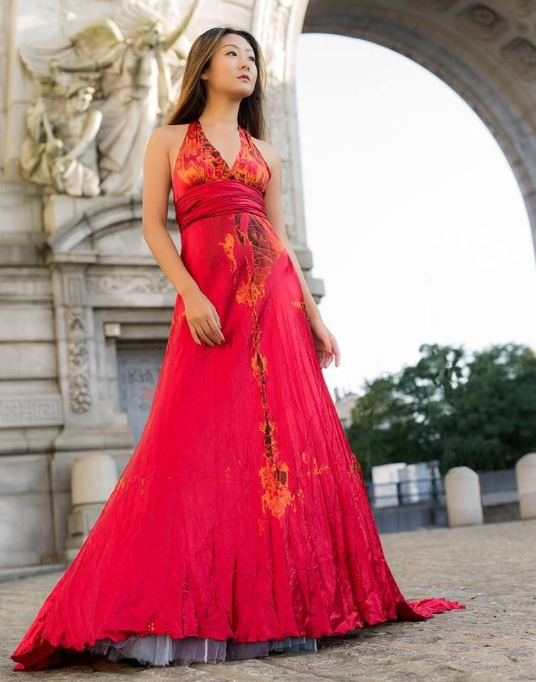 Red Satin Soho Wedding Dress Mother Of The Bride Red Wedding Gowns