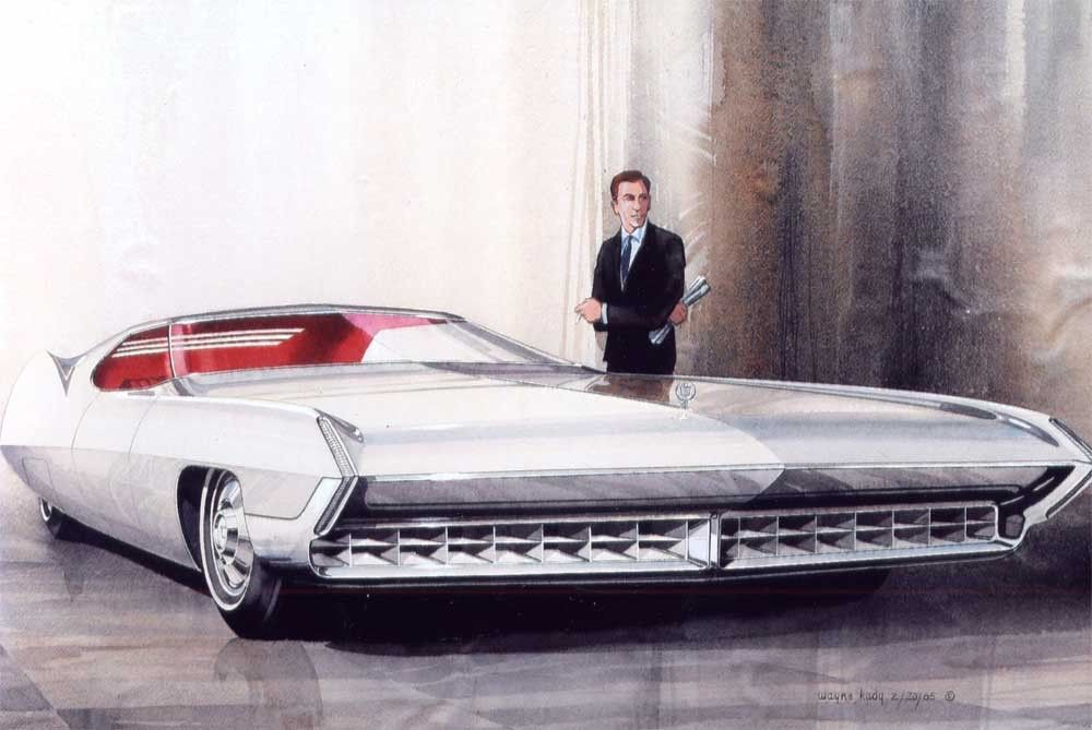 Cadillac Concepts And Sketches By Wayne Kady Ретрофутуризм Retrofuturism Машины и мотоциклы