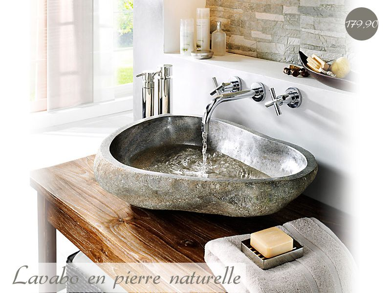 lavabo en pierre naturelle plomberie sanitaires. Black Bedroom Furniture Sets. Home Design Ideas