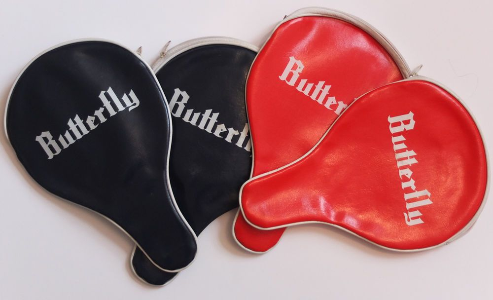 Butterfly 4 X Vintage Ping Pong Table Tennis Bat Covers Red And Blue Cases Table Tennis Bats Table Tennis Ping Pong Table Tennis