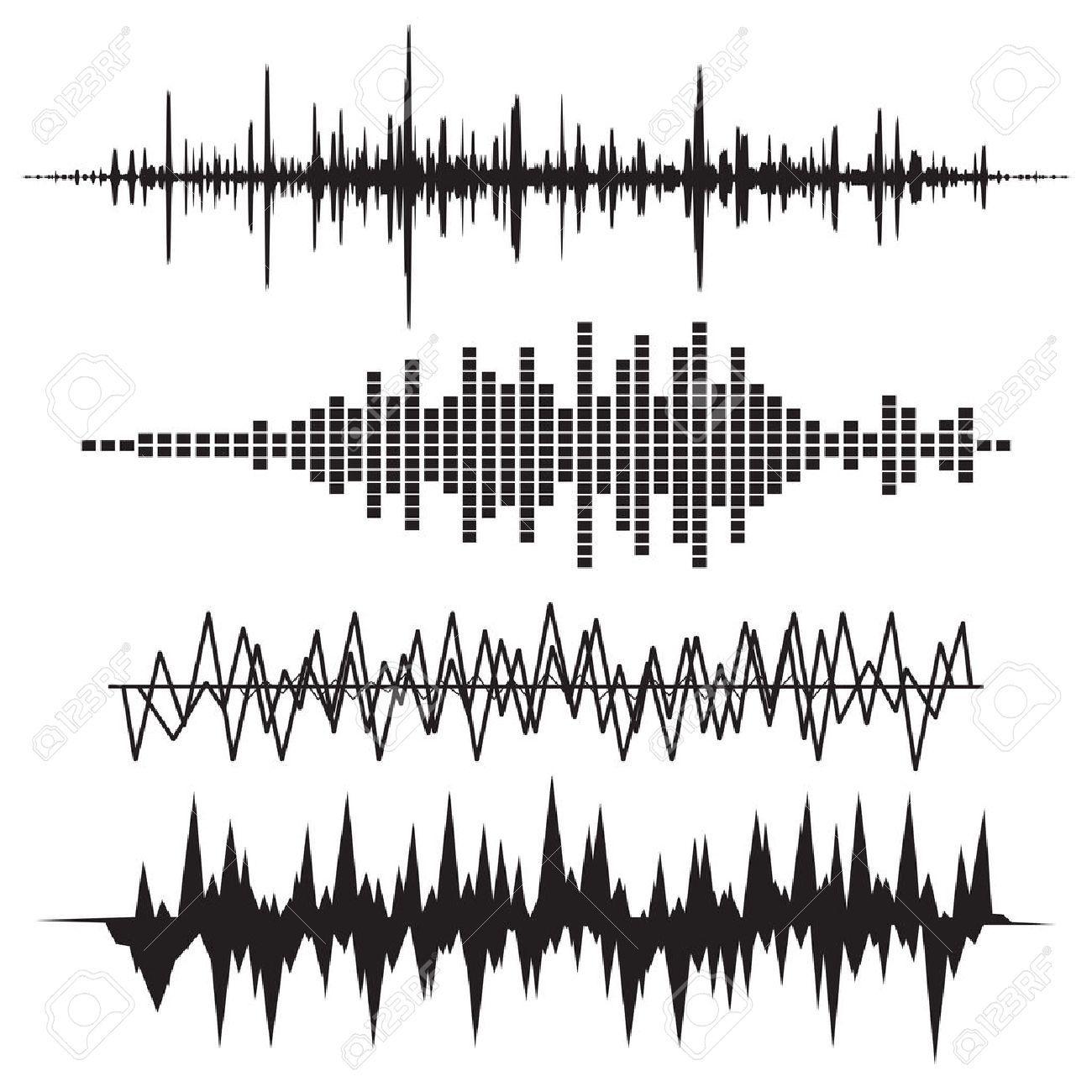 Sound Wave Icon Set Music Soundwave Icons Set Equalize Audio Waves Icon Sound Waves Sound Waves Design