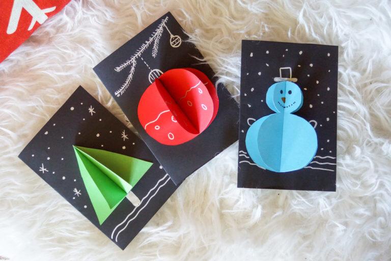 ?⛄️❄️ Des cartes de vœux en 2 min pour Noël ❤️