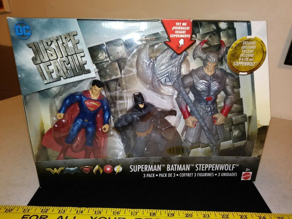 DC Justice League Battle In a Box Batman 3 /& Superman Figures Steppenwolf
