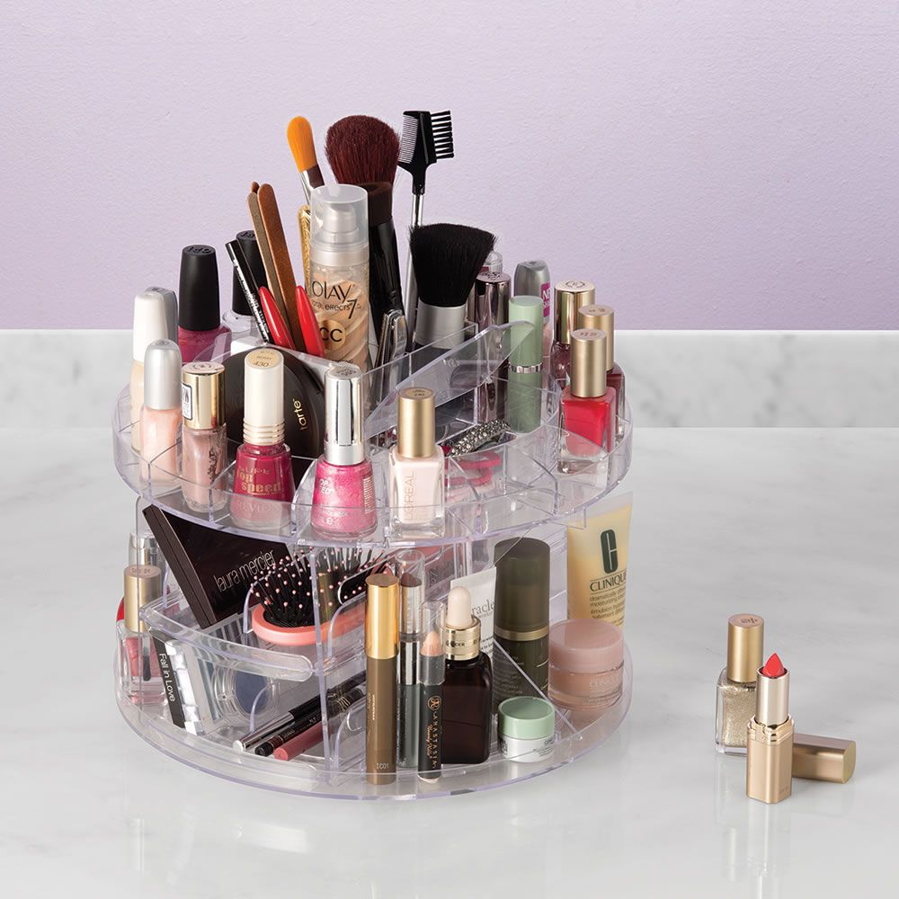 Wonderful The 200 Item Cosmetics Turntable   This Is The Swiveling Organizer That  Neatly Stores Up To
