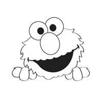 Elmo Face Coloring Page