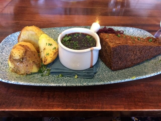 Budgetvegan: Roast at a pub. It was ok (there were also vegetables out in the table) but the nut loa... - #(there #budgetvegan: #loa... #table) #vegetables
