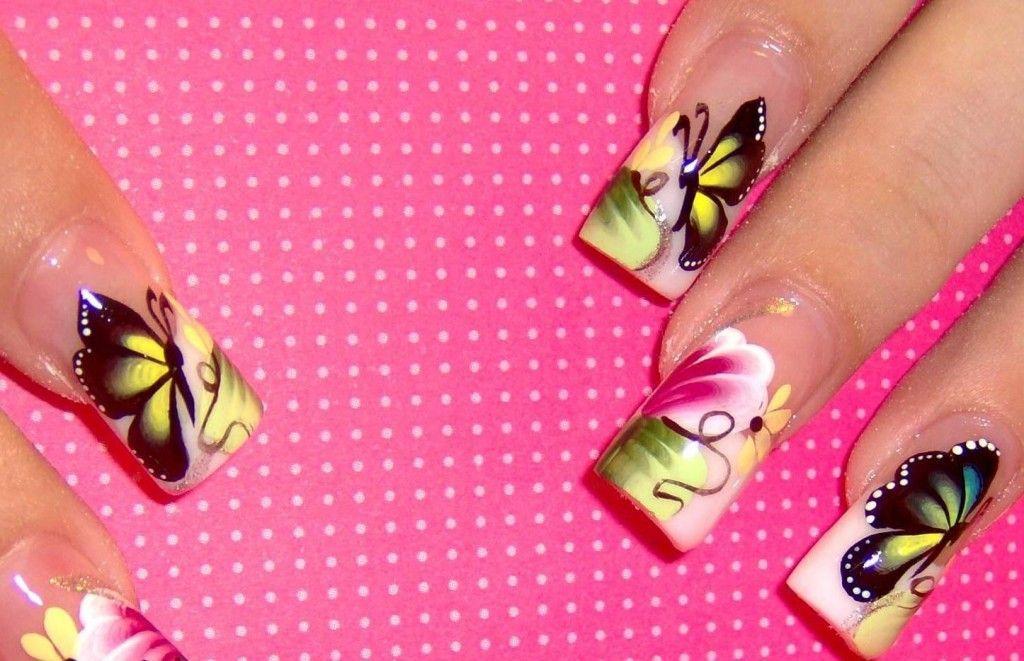 Airbrush Nail Art Designs Butterfly Nails Nails More Nails