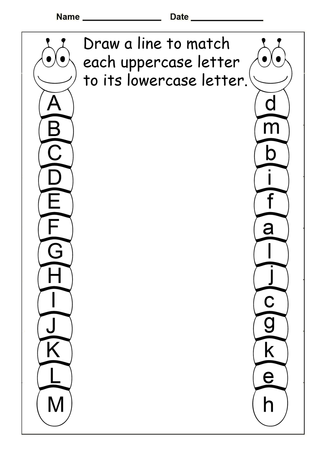 Free Abc Worksheets For Pre K Activity Shelter Printable