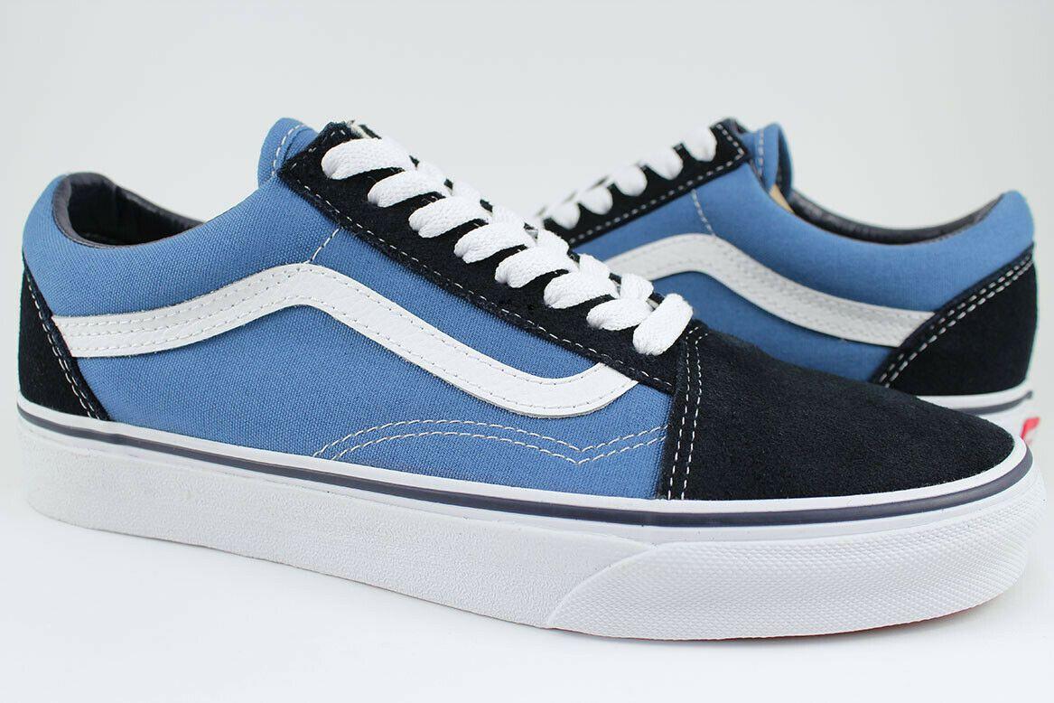 Details About Vans Old Skool Navy Blue White Skate Shoes