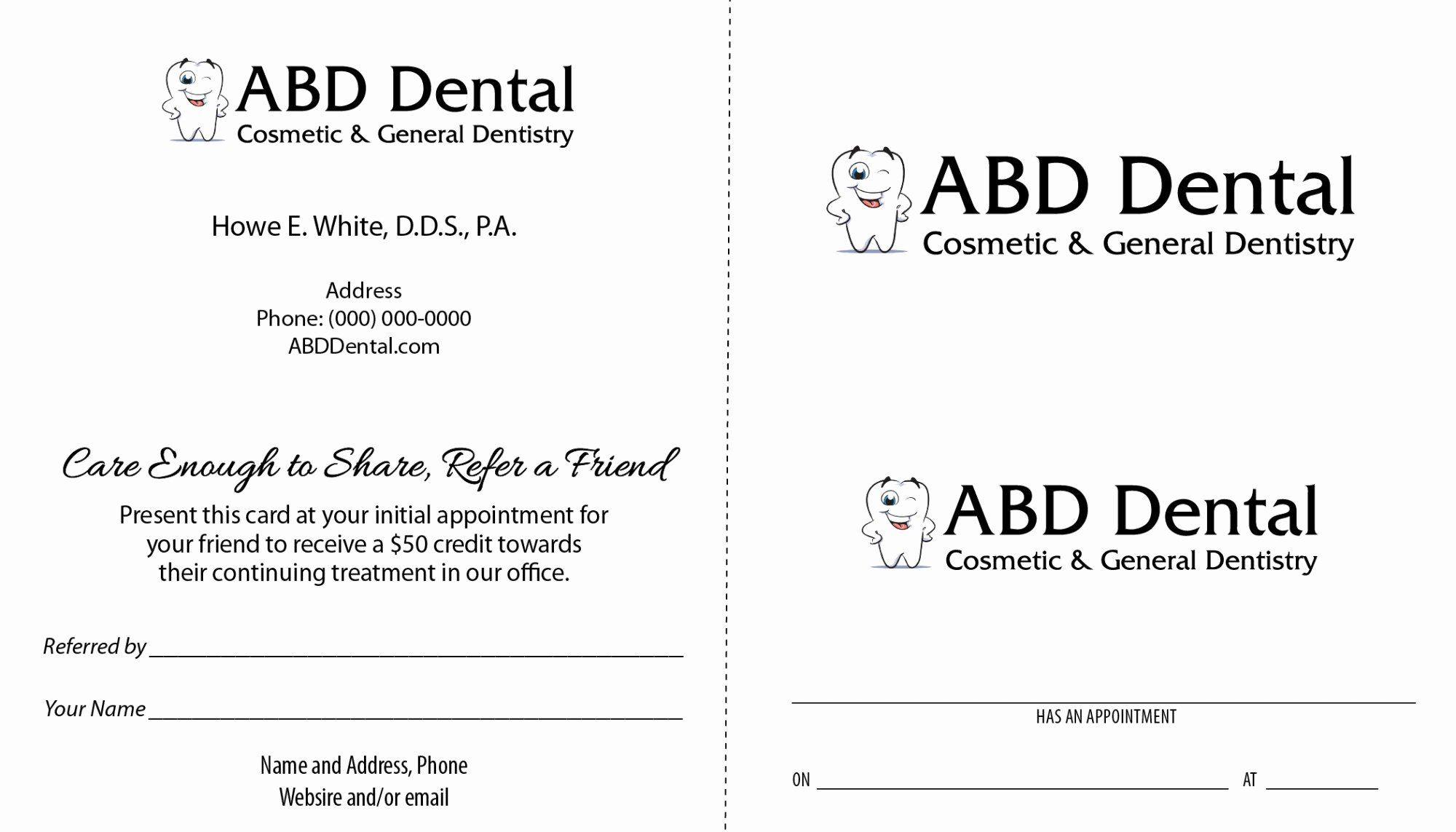 Referral Card Template Free Unique Dental Care To Referral Program Samples Card Templates Free Referral Cards Coupon Template