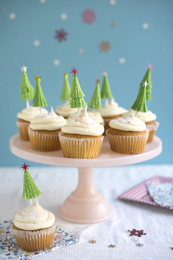 Cupcake Liner Tree Toppers Diy Oh Happy Day Christmas