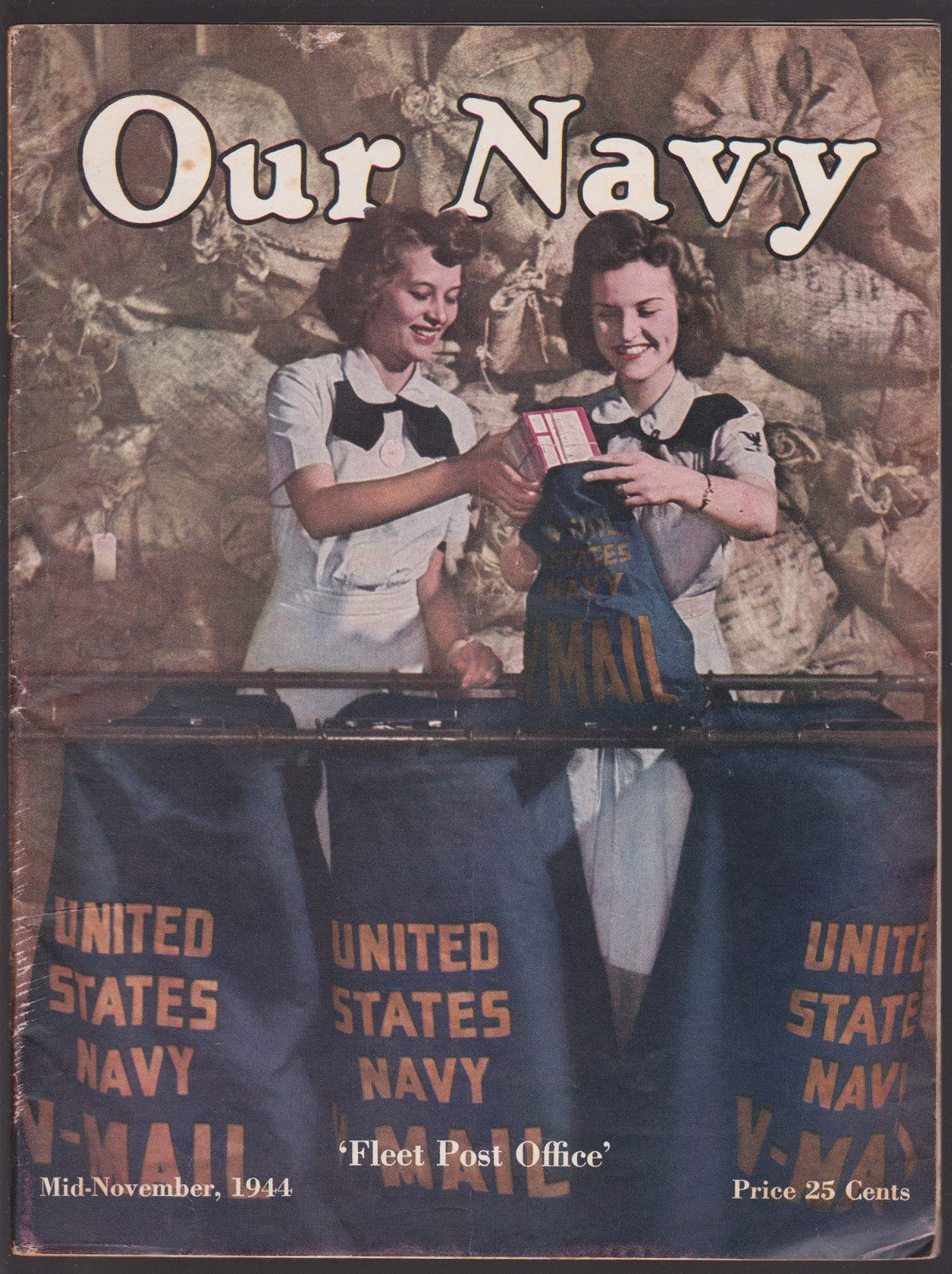 1944 MidNovember OUR NAVY magazine WWII United States