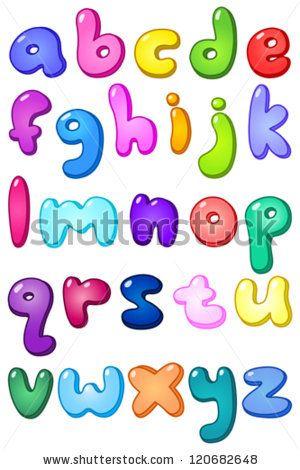 the letter t in bubble letters lower case Bubble Letter Alphabet ...