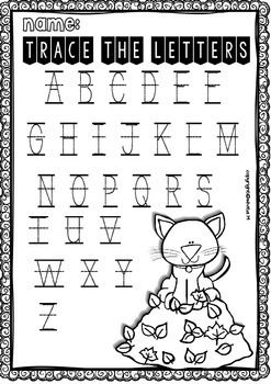 Fall no-prep Free Math and ELA Printables for Pre-K and