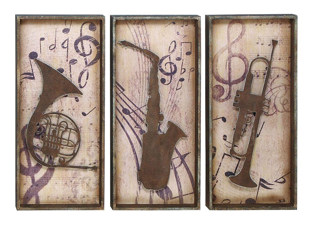 Jazz Man S Horns Music Wall Plaques Wall Art Plaques Music Wall Art Music Wall