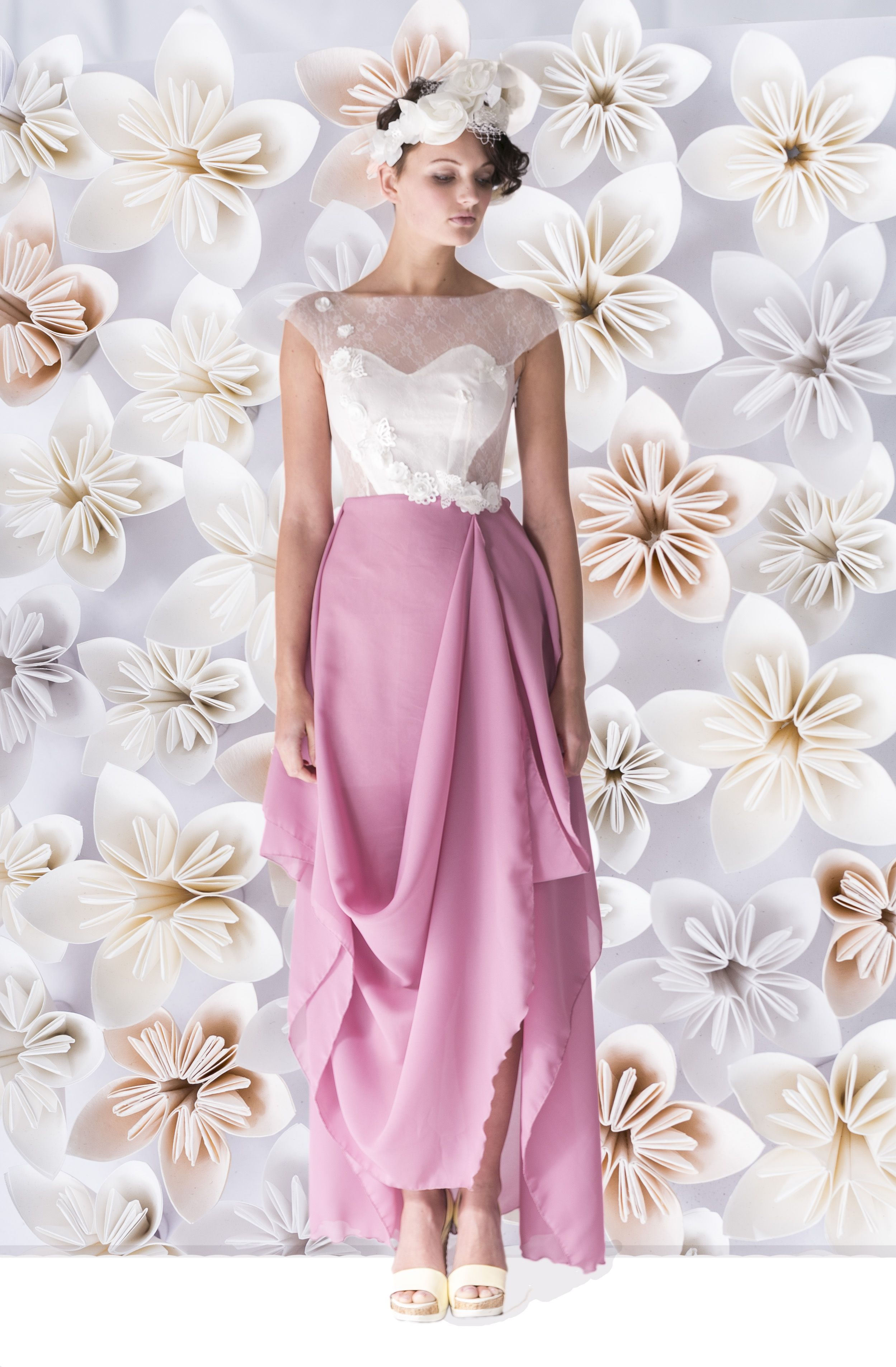 Queens evening formal or simple wedding dress with