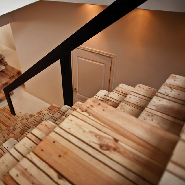 Pallet Staircase By MOST Architecture