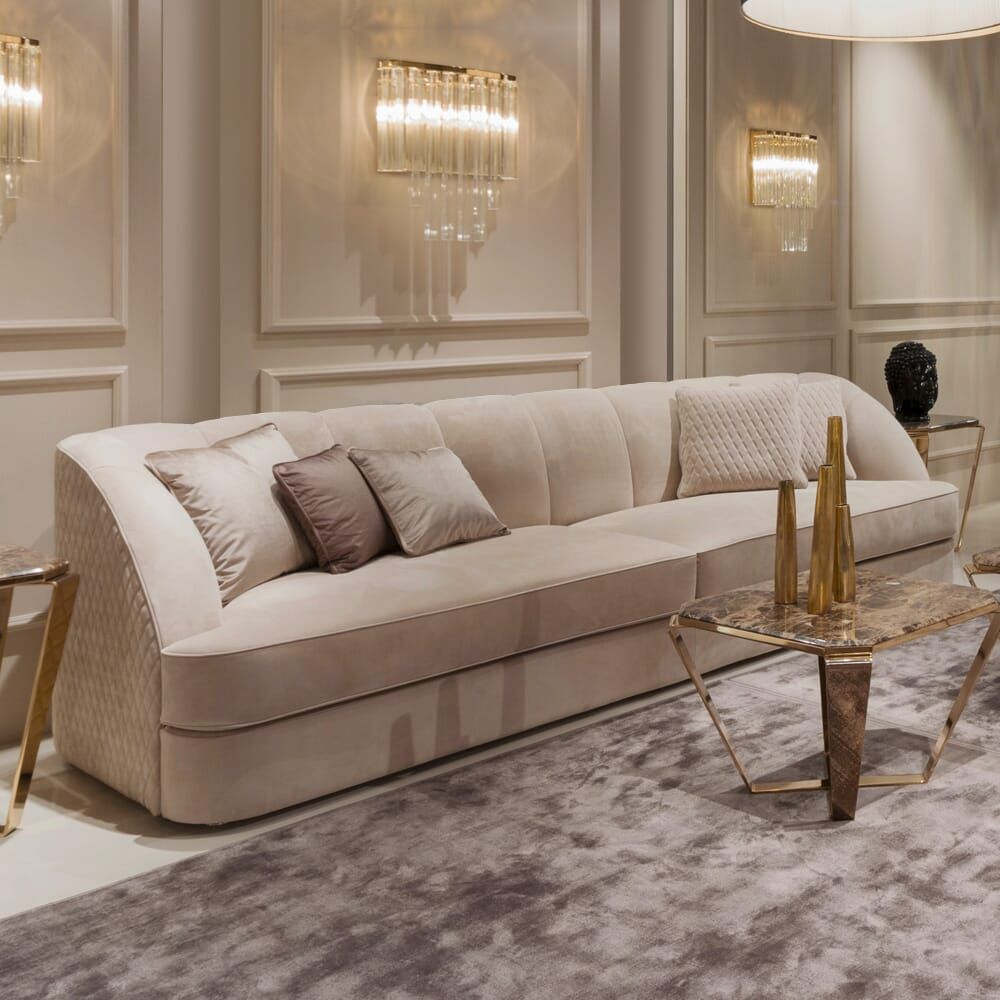 Exclusive Modern Italian Quilted Nubuck Sofa - Juliettes Interiors In 2020 | Sofa Offers, Gorgeous Sofas, Luxury Sofa
