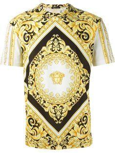 Versace Medusa Baroque T Shirt Eraldo Farfetch Com Stil Baski Tisort