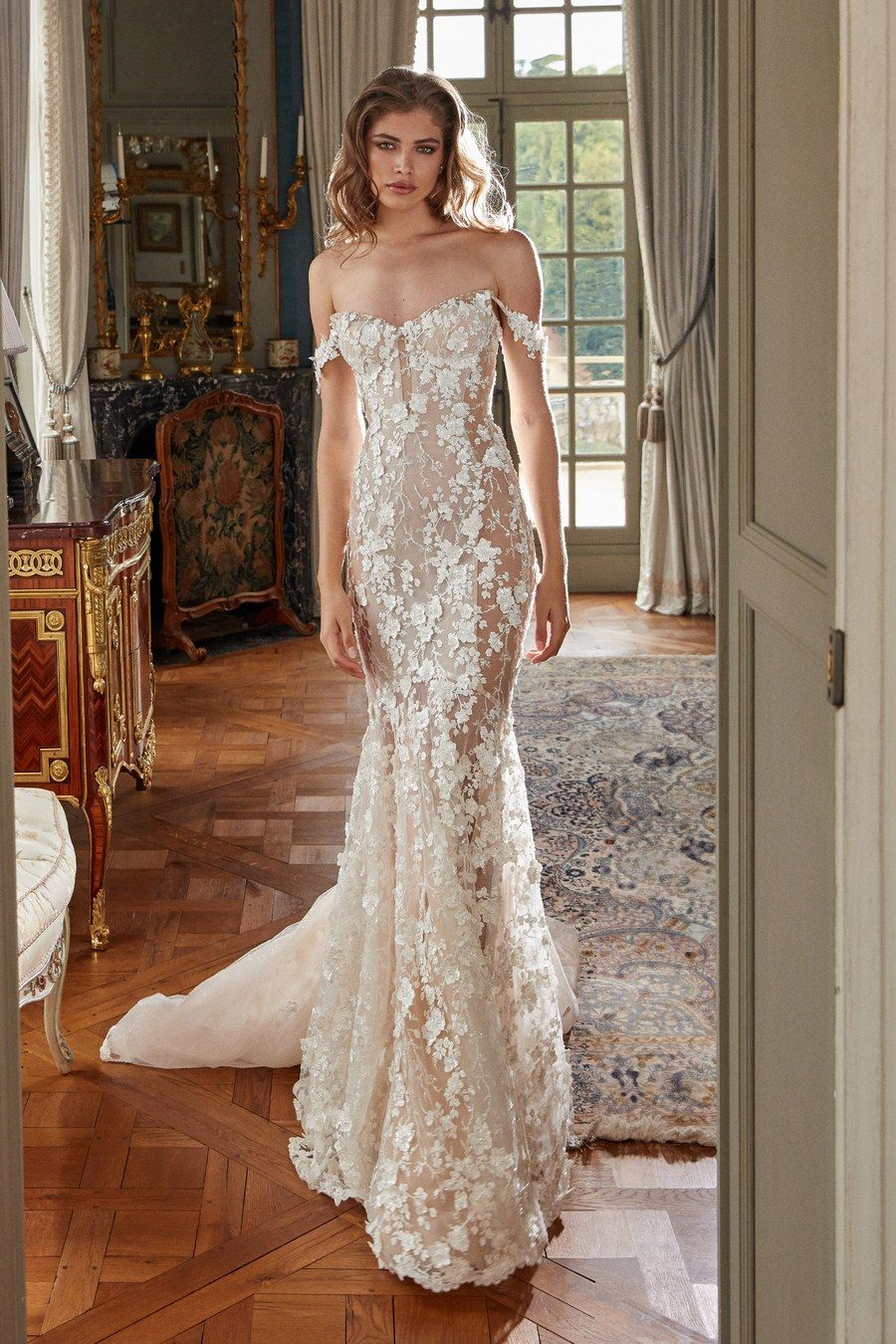 Galia Lahav Bridal Fall 2020 Fashion Show Petite Wedding Dress Sheer Wedding Dress Galia Lahav Wedding Dress [ 1350 x 900 Pixel ]