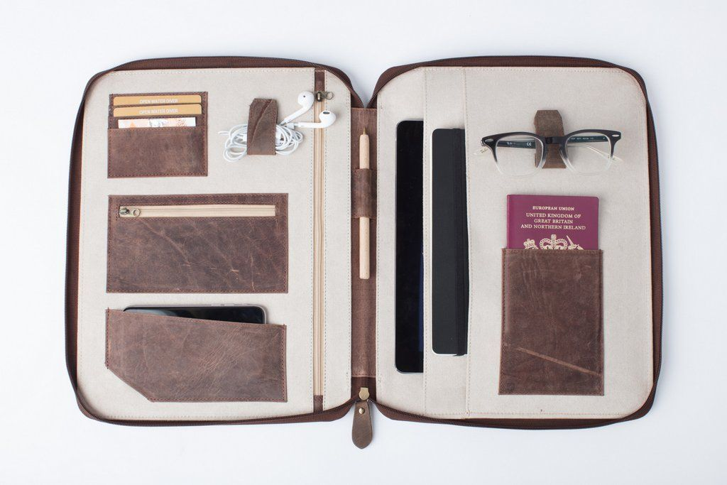 Organizer XL (Vintage Tan) (With images) Leather travel