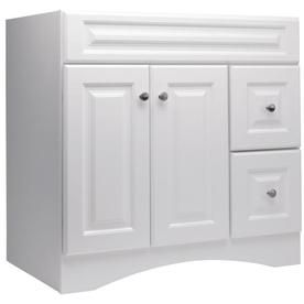 style selections ellenbee white integral single sink bathroom vanity with cultured marble top common 31in x 19in actual 31in x 185in pinterest
