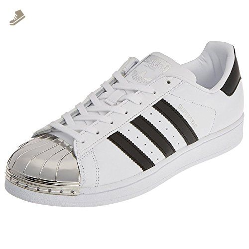 Adidas Superstar Metal Toe Footwear White Core Black Womens Leather Trainers